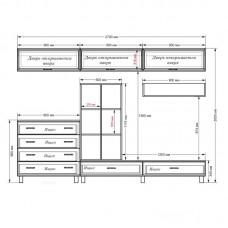 Модульная стенка Гостиная-10