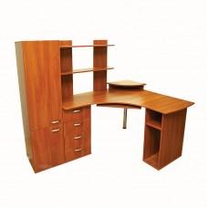Угловой компьютерный стол с пеналом Ника 25