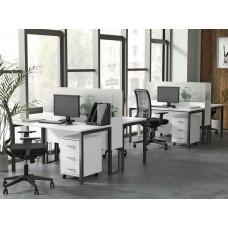 Офисный стол с перегородкой Loft Гранд