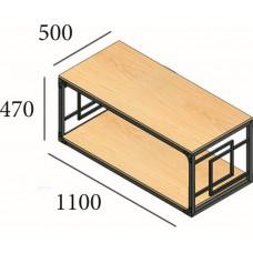Столик журнальный Loft Квадро